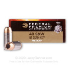 40 S&W - 165 gr HST JHP - Federal Premium Law Enforcement - 1000 Rounds