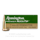 7mm-08 - 140 Grain AccuTip Boat Tail -  Remington - 20 Rounds