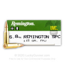 6.8 Remington SPC  - 115 Grain MC - Remington UMC - 200 Rounds