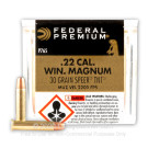 22 WMR - 30 gr JHP V-Shok - Speer TNT - Federal Premium- 50 Rounds