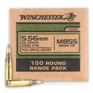 5.56x45 - 62 Grain FMJ M855 - Winchester - 150 Rounds
