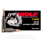 5.45x39 - 60 Grain FMJ - Wolf - 1000 Rounds
