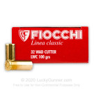 32 S&W Long - 100 gr Lead Wadcutter - Fiocchi - 50 Rounds