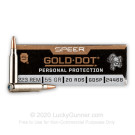 223 Rem - 55 Grain SP - Speer Gold Dot - 20 Rounds