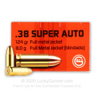 38 Super - 124 Grain FMJ - GECO - 50 Rounds
