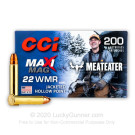 22 WMR - 40 Grain JHP - CCI Maxi-Mag MeatEater Edition - 200 Rounds