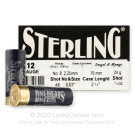 """12 Gauge - 2-3/4"""" 7/8oz. #8 Shot - Sterling TRAP Competition - 250 Rounds"""