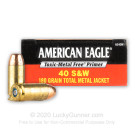 40 S&W - 180 Grain TMJ - Federal American Eagle Indoor Range Training - 50 Rounds