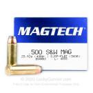 500 S&W Magnum - 400 gr SJSP - Magtech - 20 Rounds