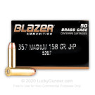 357 Mag - 158 Grain JHP - Blazer Brass - 1000 Rounds