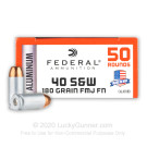 40 S&W - 180 Grain FMJ FN - Federal Champion (Aluminum) - 50 Rounds