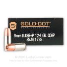 9mm - +P 124 Grain JHP - Speer LE Gold Dot Duty - 50 Rounds