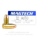 32 ACP - 71 gr JHP  - Magtech - 50 Rounds