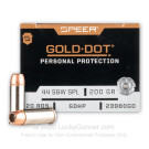 44 Special - 200 gr JHP - Speer Gold Dot - 20 Rounds