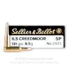 6.5mm Creedmoor - 131 Grain SP - Sellier & Bellot - 20 Rounds