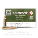 5.56x45mm - 55 Grain FMJ M193 - CBC - 50 Rounds