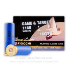 "16 Gauge - 2-3/4"" 1 oz. #8 Lead Shot - Fiocchi Game & Target - 25 Rounds"