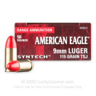 9mm - 115 Grain Total Synthetic Jacket (TSJ) - Federal Syntech - 50 Rounds