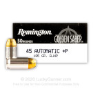 45 ACP - +P 185 Grain BJHP - Remington Golden Saber - 500 Rounds