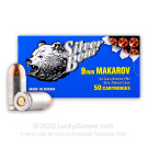 9mm Makarov - 94 Grain FMJ - Silver Bear - 1000 Rounds