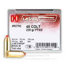 45 Long Colt - 225 Grain JHP FTX - Hornady LEVERevolution - 20 Rounds