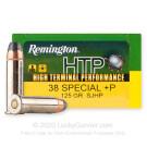 38 Special - +P 125 Grain SJHP - Remington HTP - 20 Rounds