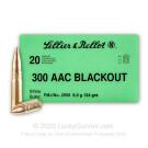 300 AAC Blackout - 124 Grain FMJ - Sellier & Bellot - 20 Rounds