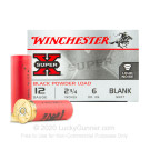 "12 Gauge - 2-3/4"" Black Powder Blank - Winchester Super-X - 25 Rounds"
