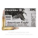 223 Rem - 55 Grain FMJBT - Federal American Eagle - 500 Rounds