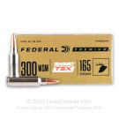 300 WSM - 165 Grain Barnes TSX - Federal - 20 Rounds