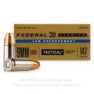 9mm - 147 Grain HST JHP - Federal Premium Law Enforcement - 50 Rounds