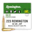 223 Rem - 50 Grain JHP - Remington UMC - 50 Rounds