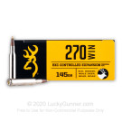 270 - 145 Grain Controlled Expansion Terminal Tip - Browning BXC - 20 Rounds