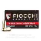 38 S&W - 145 gr FMJ- Fiocchi - 50 Rounds