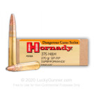 375 H&H Magnum - 270 Grain InterLock SP-RP - Hornady Superformance - 20 Rounds