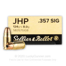 357 Sig - 124 Grain JHP - Sellier & Bellot - 50 Rounds