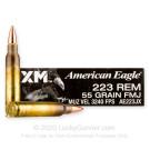 223 Rem - 55 Grain FMJBT - Federal American Eagle - 20 Rounds
