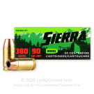 380 Auto - 90 Grain JHP - Sierra Outdoor Master - 20 Rounds