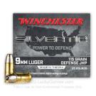 9mm - 115 Grain JHP - Winchester Silvertip - 20 Rounds