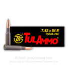7.62x54r - 148 Grain FMJ - Tula - 500 Rounds