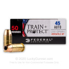 45 ACP - 230 Grain VHP - Federal Train + Protect - 50 Rounds