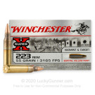 223 Rem - 55 Grain BTHP - Winchester Super-X - 20 Rounds