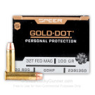 327 Federal Magnum - 100 gr JHP - Speer Gold Dot - 20 Rounds