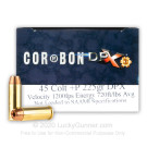 45 Long Colt - +P 225 Grain SCHP DPX - Corbon - 20 Rounds