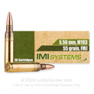 5.56x45mm - 55 Grain FMJ M193 - IMI - 30 Rounds