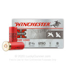 "12 Gauge - 2-3/4"" 1 oz. #8 Shot - Winchester Super-X Game Loads - 250 Rounds"