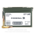 5.56x45 - 55 Grain FMJBT XM193 - Federal American Eagle - 400 Rounds in Ammo Can