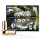 40 S&W - 165 Grain JHP - Federal Punch - 20 Rounds