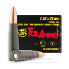 7.62x39 - 122 gr FMJ - Tula Cartridge Works - 20 Rounds