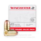 45 ACP - 230 Grain FMJ - Winchester USA - 100 Rounds